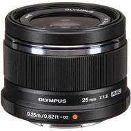 Olympus M. Zuiko Digital 25mm F1.8 Lens - Black (New)