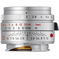 Leica 35mm F2 Summicron-M ASPH Lens Silver (NEW)