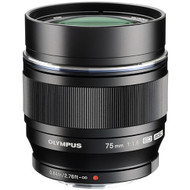Olympus 75mm F1.8 Portrait Lens with Hood- Black (New)