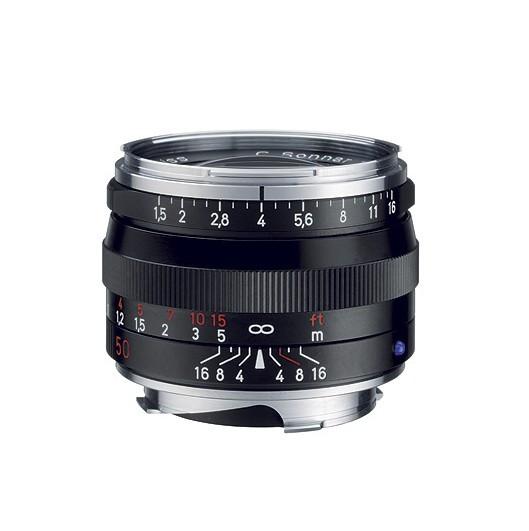 Zeiss C Sonnar T* 50mm F1 5 ZM Lens - Black (New) - Camera Lane