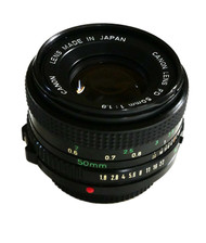 Canon NEW FD 50mm F1.8 Lens (Used)