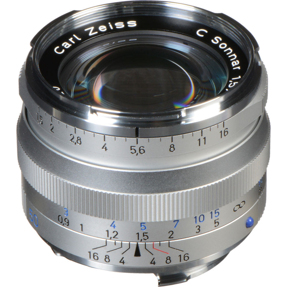 Zeiss C Sonnar T* 50mm F1 5 ZM Lens - Silver (New) - Camera Lane