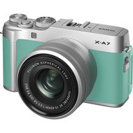 Fujifilm X-A7 Mirrorless Digital Camera with 15-45mm Lens - Mint Green (New)