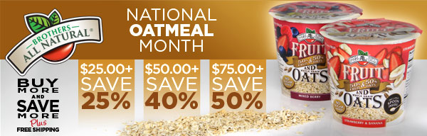 Fruit and Oats Variety Pack Instant Oatmeal: Buy More, Save More