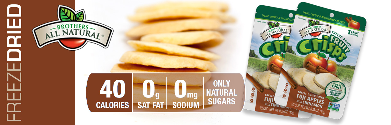 Brothers All Natural Freeze Dried Cinnamon Apples are 100% all natural. No additives or preservatives