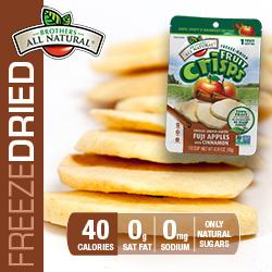 Freeze Dried Cinnamon Apple Fruit Crisps nutrition
