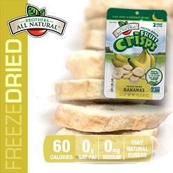 Freeze Dried Banana Fruit Crisps nutrition