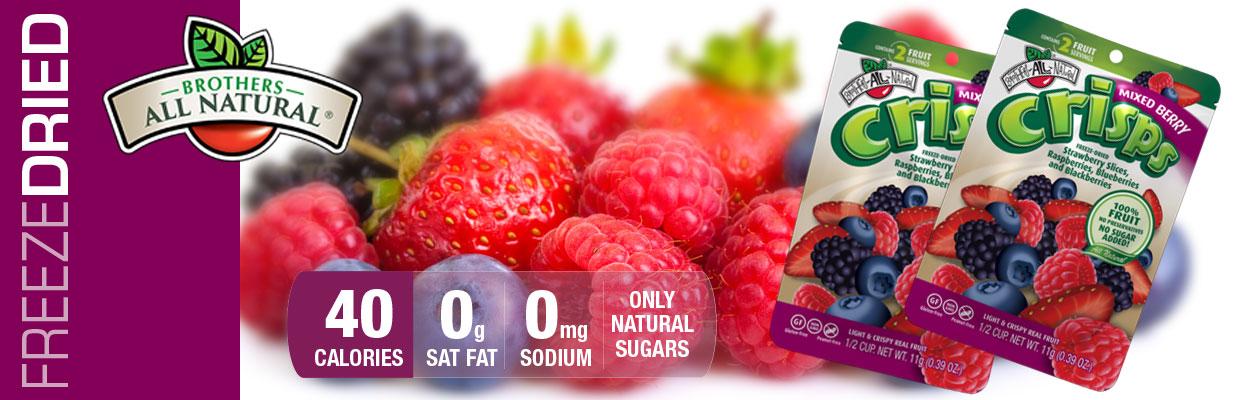 Freeze Dried Mixed Berry Fruit Crisps