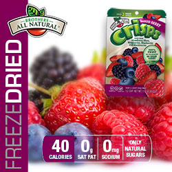 Freeze Dried Mixed Berry Fruit Crisps nutrition