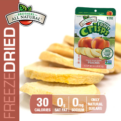 Freeze Dried Peach Fruit Crisps nutrition