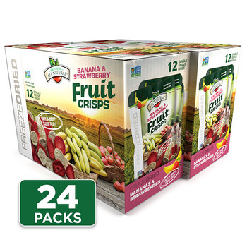 Freeze Dried Strawberry-Banana Fruit Crisps 24-pack