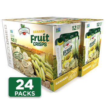 Freeze Dried Banana Fruit Crisps 24-pack