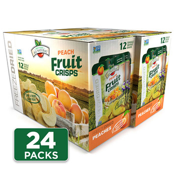 Freeze Dried Peach Fruit Crisps 24-pack