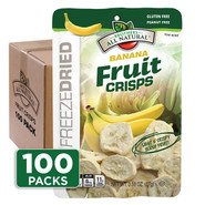 Freeze Dried Banana Fruit Crisps 100-pack