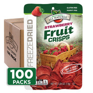 Freeze Dried Strawberry Fruit Crisps 100-pack
