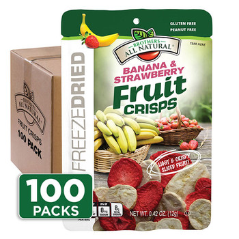 Freeze Dried Strawberry-Banana Fruit Crisps 100-pack