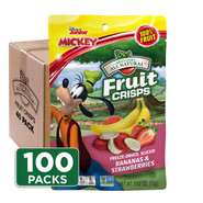 Disney Banana-Strawberry Fruit Crisps 100-pack