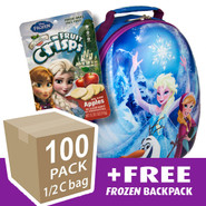Disney Frozen freeze dried apple fruit crisps travel backpack, 100 pack