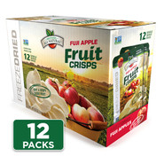 Freeze Dried Apple Fruit Crisps, 12-pack