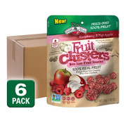 Freeze Dried Raspberry Apple Fruit Clusters, 6 pack