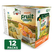 Freeze Dried Peach Fruit Crisps 12-pack