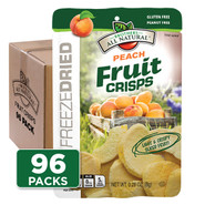 Freeze Dried Peach Fruit Crisps pack 96-pack
