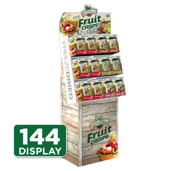 Brothers All Natural Freeze Dried Fruit Crisps Retail Display
