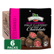 Dark Chocolate Covered Raspberry-Apple Fruit Clusters 6-pack