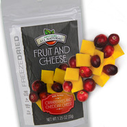 Freeze Dried Cranberries and Cheddar Cheese Snacks