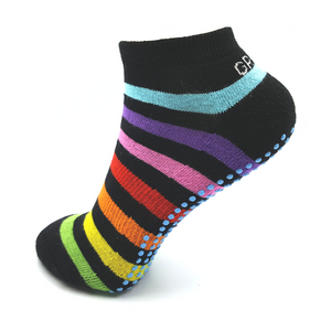 Rainbow Active Anklet Non Slip Socks