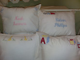 Appliqued Baby Pillowcases