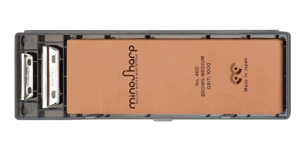 460 New MinoSharp Whetstone Medium Stone Grit 1000 Professional Sharpening Kit