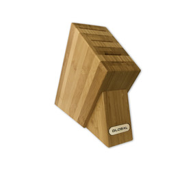 Global G-6SKB, 6 Slot Bamboo Knife Block