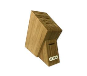 Global G-7SKB, 7 Slot Bamboo Knife Block