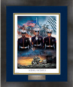 US Marine Dress Plaque Framed Print