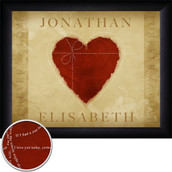 Personalized Loving Heart Wall Art