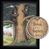Personalized Honey Bears Wall Art