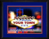 Personalized Las Vegas Marquee Wall Art