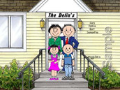 Friendly Folks Personalized Family Home Cartoon Print