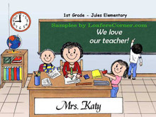 Friendly Folks Personalized School Teacher
