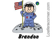 Friendly Folks Personalized Future Astronaut Cartoon Print