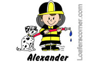 Friendly Folks Personalized Future Firefighter Print
