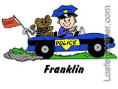 Friendly Folks Personalized Future Police Print