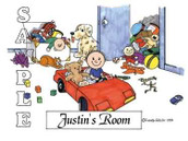 Friendly Folks Personalized Kids Room Cartoon Print