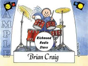Friendly Folks Personalized Drummer Cartoon Print