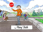 Friendly Folks Personalized Crossing Guard Cartoon Print
