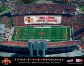 Personalized College Football Stadium Card Prints