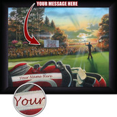 Personalized Golf Scene Wall Art