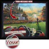 Personalized Golf Scene Wall Art