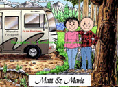 Friendly Folks Personalized RV Lovers Couple